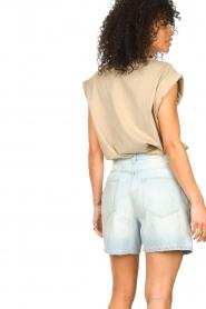 Notes Du Nord |  Cotton basic T-shirt Porter | beige  | Picture 5