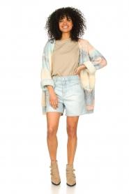 Notes Du Nord |  Cotton basic T-shirt Porter | beige  | Picture 3