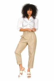 Notes Du Nord |  Strech blouse with puff sleeves Kira | white  | Picture 3