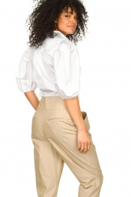 Notes Du Nord |  Strech blouse with puff sleeves Kira | white  | Picture 6