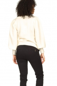 Notes Du Nord |  Knitted sweater with puf sleeves Tori | white  | Picture 6