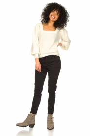 Notes Du Nord |  Knitted sweater with puf sleeves Tori | white  | Picture 3