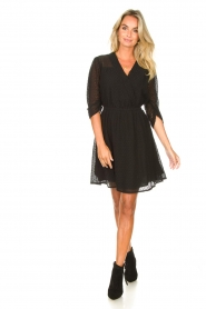 Aaiko |  Open work dress Yaelle | black  | Picture 3