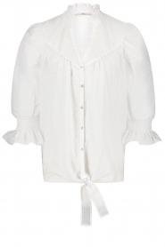 Aaiko |  Tie blouse Sharinda | white  | Picture 1
