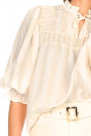 Aaiko |  Striped blouse Carella | white  | Picture 8