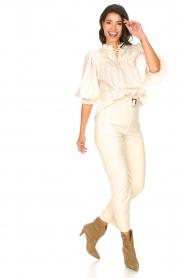 Aaiko |  Striped blouse Carella | white  | Picture 3