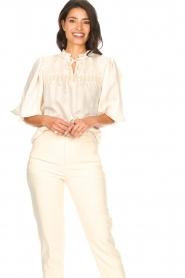 Aaiko |  Striped blouse Carella | white  | Picture 2