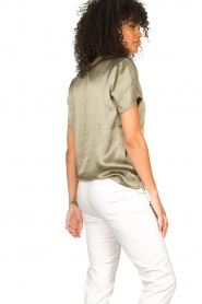 Aaiko |  Top with lace v-neck Veerne | green  | Picture 6