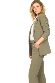 Aaiko |  Melange blazer Samilla | green  | Picture 7