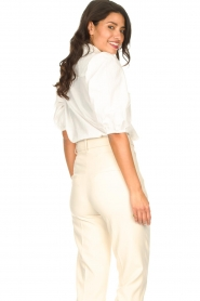 Aaiko |  Cotton blouse with puff sleeves Pien | white  | Picture 7