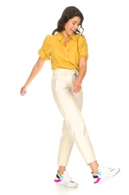 Aaiko |  Blouse with puff sleeves Pien | yellow  | Picture 3