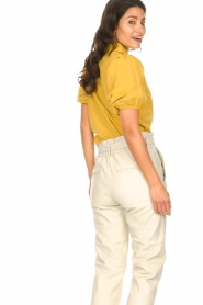 Aaiko |  Blouse with puff sleeves Pien | yellow  | Picture 7