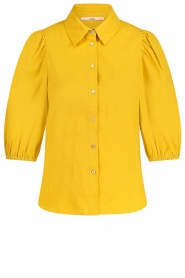Aaiko |  Blouse with puff sleeves Pien | yellow  | Picture 1
