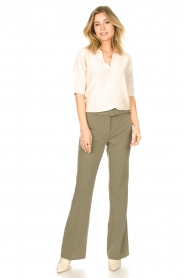 Aaiko |  Flared trousers Flarene | green  | Picture 3
