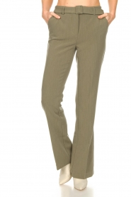 Aaiko |  Flared trousers Flarene | green  | Picture 4
