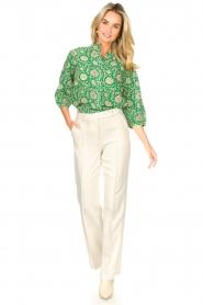 Aaiko | Wijduitlopende pantalon Vantalle | naturel   | Afbeelding 2