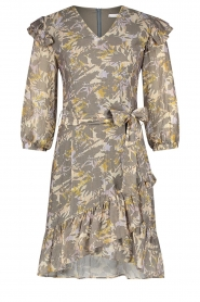 Aaiko |  Cotton floral dress with ruffles Valenthe | grey  | Picture 1