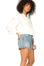 Aaiko |  Tie blouse with embroidery details Cadence | white  | Picture 4
