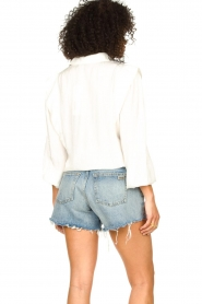 Aaiko |  Tie blouse with embroidery details Cadence | white  | Picture 5