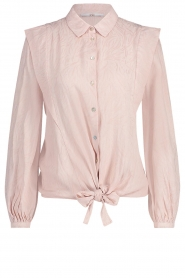 Aaiko |  Tie blouse with embroidery details Cadence | pink  | Picture 1