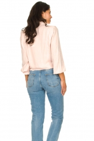 Aaiko |  Tie blouse with embroidery details Cadence | pink  | Picture 7