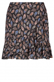 Aaiko |  Wrap skirt with paisley print Salienta | black  | Picture 1