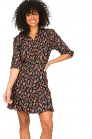 Aaiko |  Wrap skirt with paisley print Salienta | black  | Picture 2