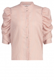 Aaiko |  Striped blouse Taciana | pink  | Picture 1