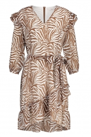 Aaiko |  Dress with animal print Valenthe | brown  | Picture 1