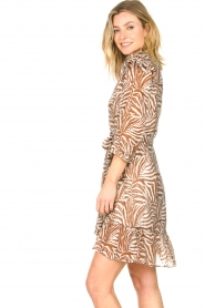 Aaiko |  Dress with animal print Valenthe | brown  | Picture 6