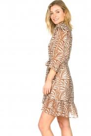 Aaiko | Zebraprint jurk Valenthe | bruin   | Afbeelding 6
