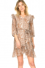 Aaiko |  Dress with animal print Valenthe | brown  | Picture 2