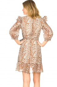 Aaiko |  Dress with animal print Valenthe | brown  | Picture 7