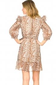 Aaiko | Zebraprint jurk Valenthe | bruin   | Afbeelding 7