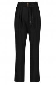 Aaiko |  Pants with drawstring Tanika | black  | Picture 1