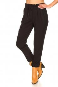Aaiko |  Pants with drawstring Tanika | black  | Picture 5