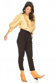 Aaiko |  Pants with drawstring Tanika | black  | Picture 3
