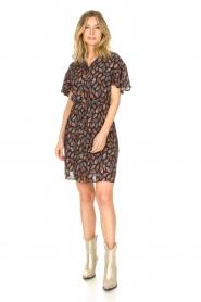 Aaiko |  Dress with paisley print Varsha | black  | Picture 3