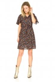 Aaiko |  Dress with paisley print Varsha | black  | Picture 4