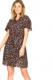 Aaiko |  Dress with paisley print Varsha | black  | Picture 2