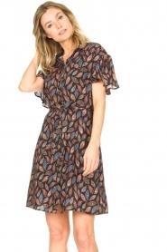 Aaiko |  Dress with paisley print Varsha | black  | Picture 5