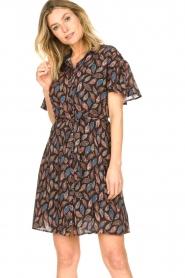 Aaiko |  Dress with paisley print Varsha | black  | Picture 6