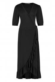 Aaiko |  Midi wrap dress Margit | black  | Picture 1