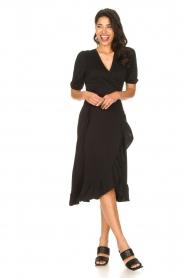Aaiko |  Midi wrap dress Margit | black  | Picture 3