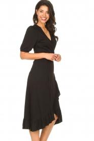 Aaiko |  Midi wrap dress Margit | black  | Picture 7