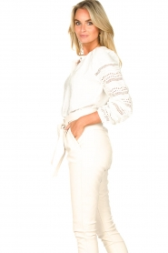 Aaiko |  Broderie blouse Vinisha | white  | Picture 6