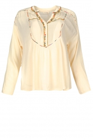 Louizon |  Crêpe blouse Shaey | natural  | Picture 1