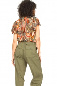 Louizon :  Top with print Jakarta | green  - img7