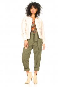 Louizon :  Top with print Jakarta | green  - img3