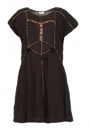 Louizon |  Dress with embroided details Shelter | black  | Picture 1